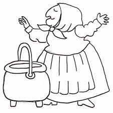 Download or print this amazing coloring page: Strega Nona.