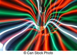 Streaky freezelight light patterns from long exposure Clip Art and.