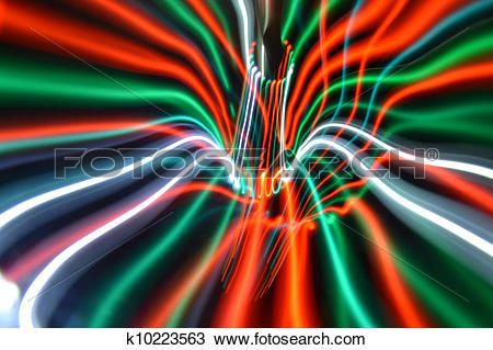 Drawing of Streaky freezelight light patterns from long exposure.