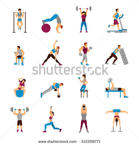 Strength building clipart #11