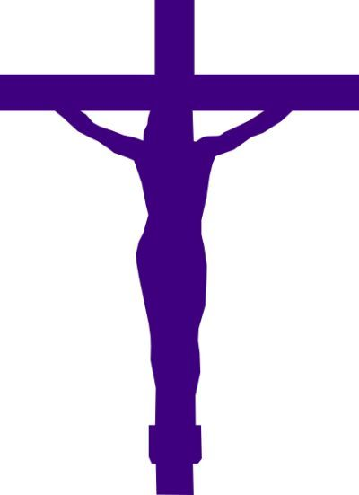 Purple Cross clip art.