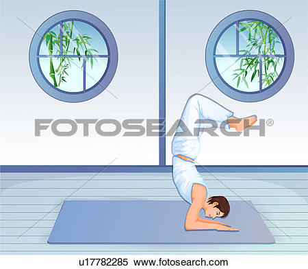 Stock Illustration of Man in a strengthening position u17782285.