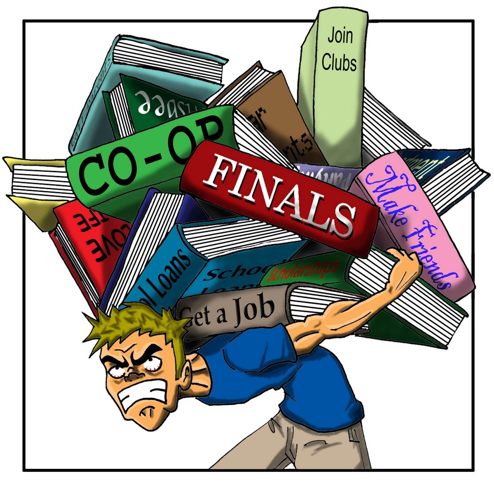 Student Stress Clipart.