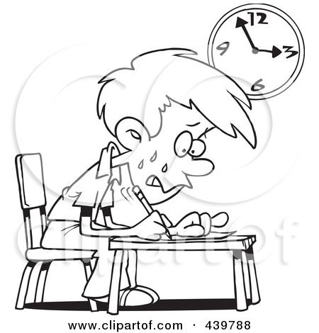 Stress Black Student Clipart.