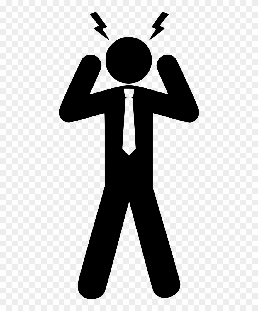 Svg Download Conflict Clipart Stress Person.