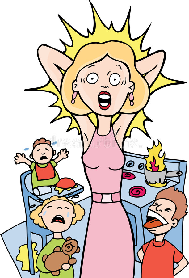 Stressed mom clipart 9 » Clipart Station.