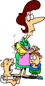 Stressed mom clipart » Clipart Station.