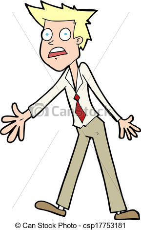 Vector of cartoon stressed man csp17753181.