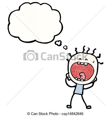 EPS Vector of stressed out man cartoon csp14842646.
