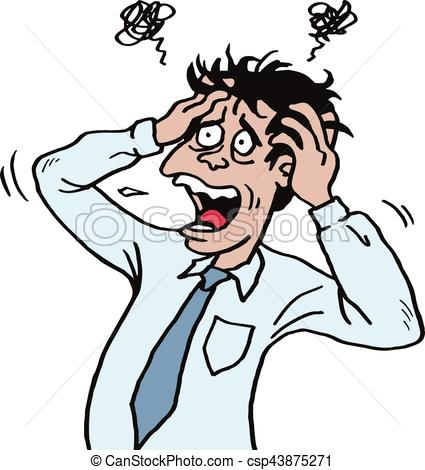Stressed Person Clipart.