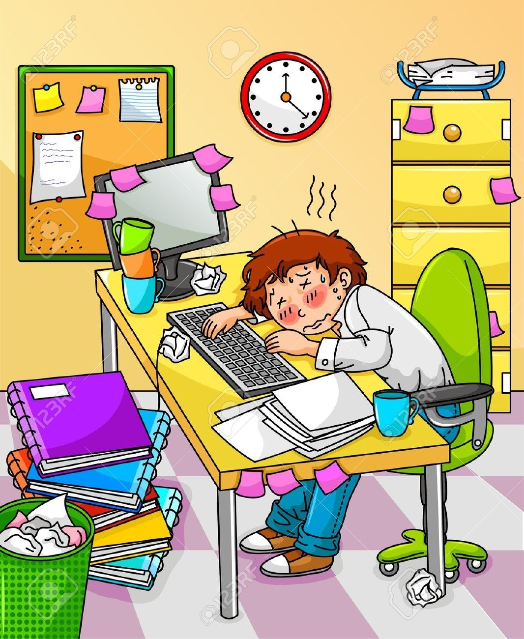 Stressed student clipart 5 » Clipart Portal.