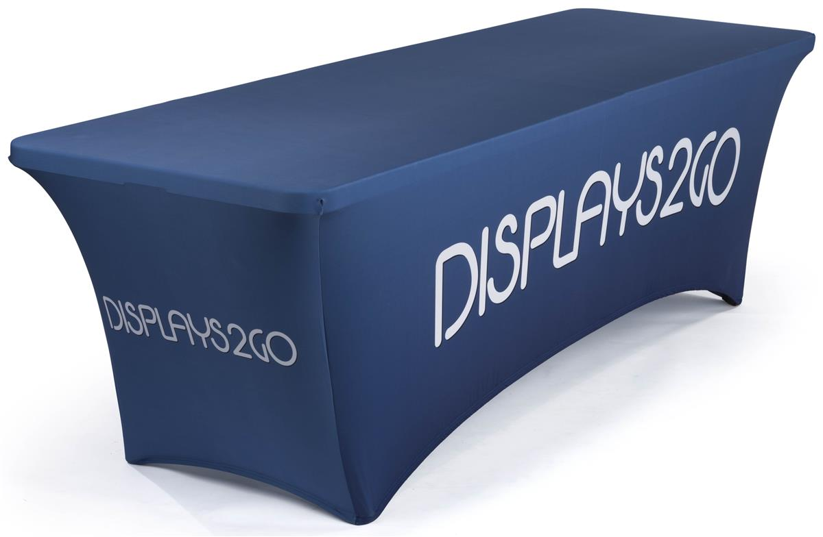 6' Stretch Table Cover, Full Back & Zipper.