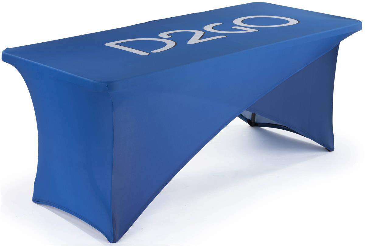 6' Stretch Table Cover, Cross Over Design.