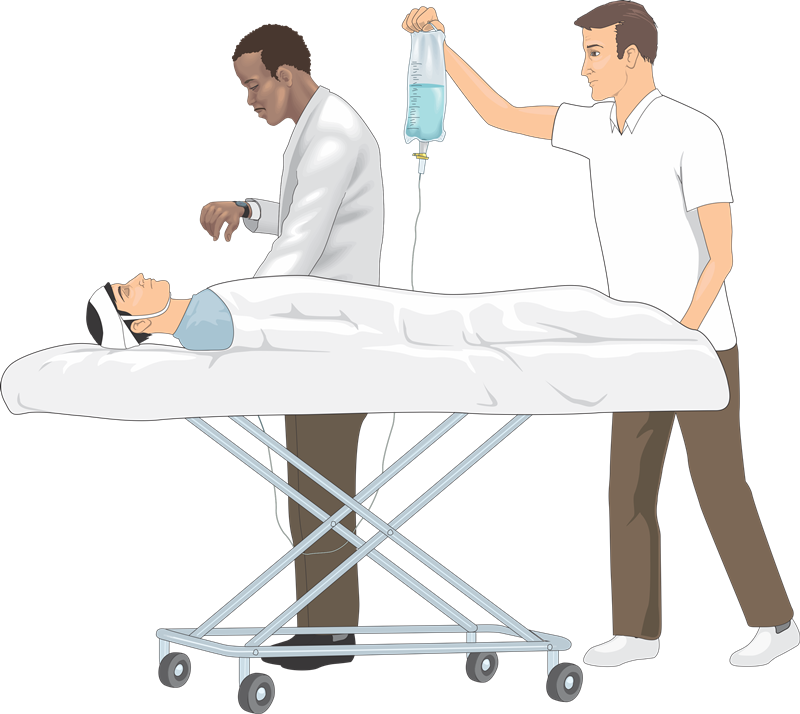 Free Patient on a Stretcher Clip Art.