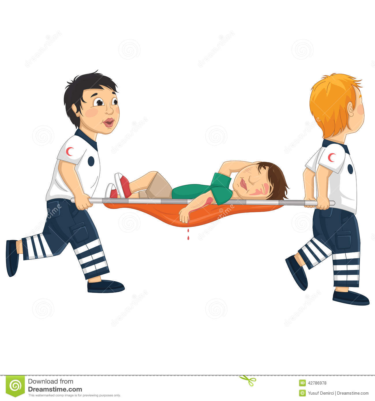 Stretcher Stock Illustrations.