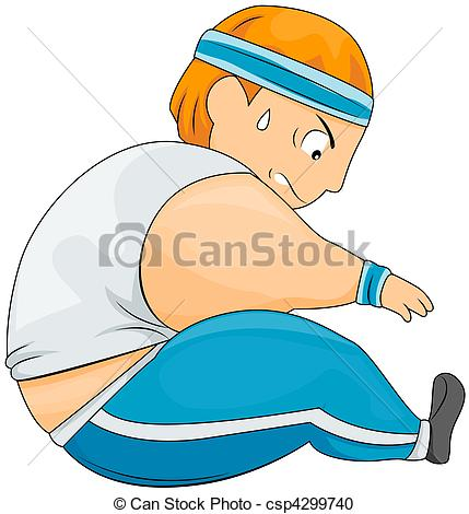 Simple Stretching Clipart.