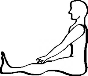 Woman Stretching Clip Art.