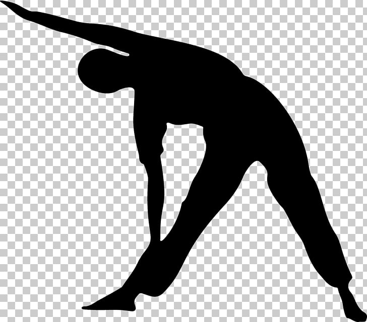 Stretching Exercise Silhouette , stretching exercises PNG.