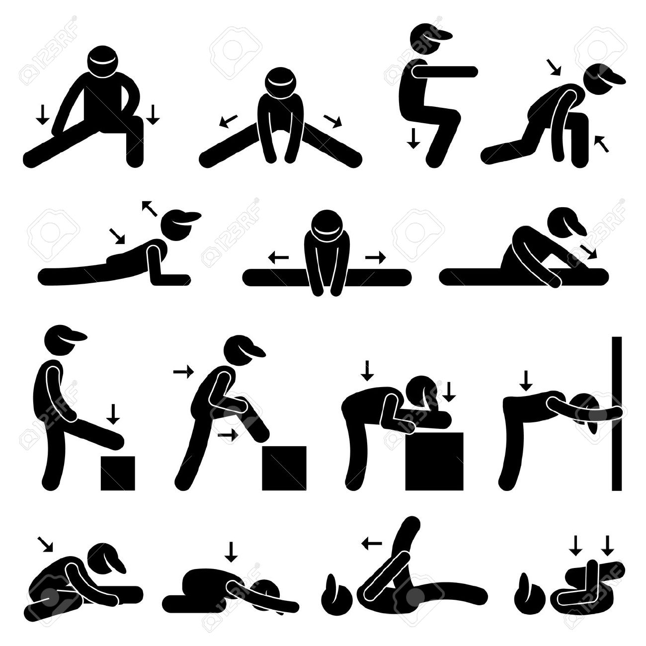 8,656 Stretching Exercises Stock Illustrations, Cliparts And.