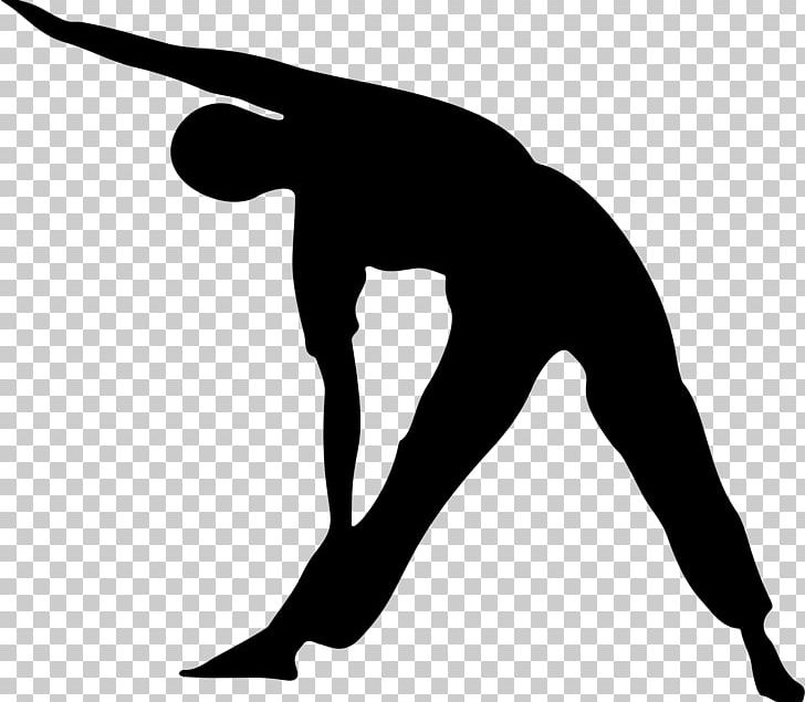 Stretching Yoga Silhouette Physical Exercise PNG, Clipart.