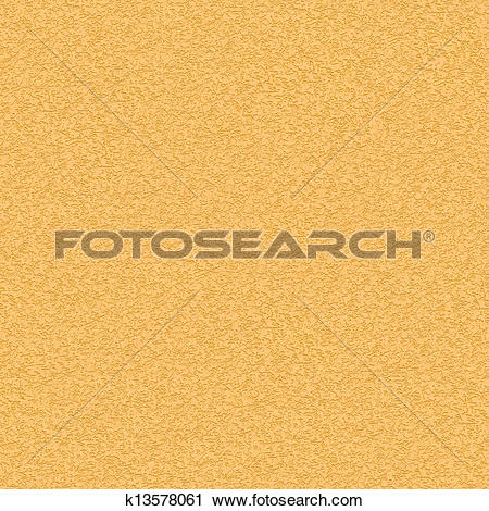 Clipart of Seamless Texture of Yellow Striated Stucco Wall.