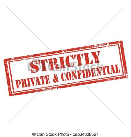 Clip Art Vector of Strictly Private & Confidential.