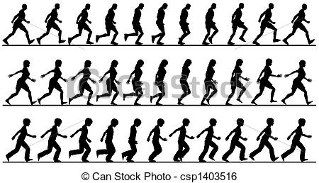 Striding Clip Art and Stock Illustrations. 317 Striding EPS.