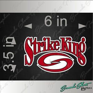 Details about STRIKE KING Fishing Logo / SINGLE / 6\