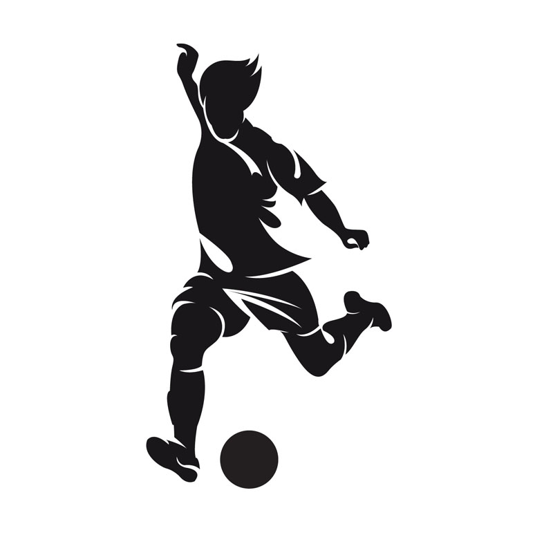 Aliexpress.com : Buy DCTOP Left Foot Striker Football Wall Paper.