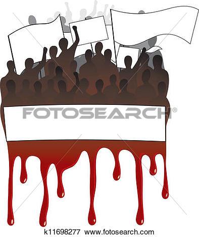 Clip Art of Strikes, demonstrations, protest k11698277.