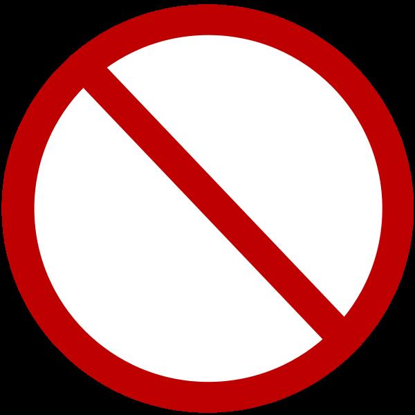Denied Sign Clipart, vector clip art online, royalty free design.