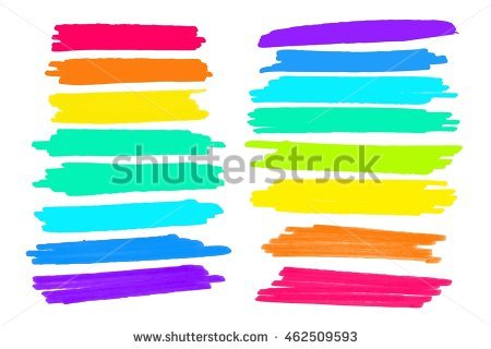 Vector Lanes Drawn Colored Markers Striking Stock Vector 462509593.