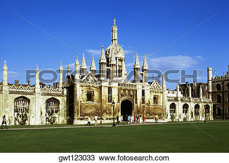 Stock Photo of Striking view of Kings College, Cambridge, England.