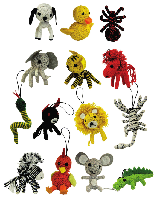 Novelty Toys and Games: Animal String Doll.