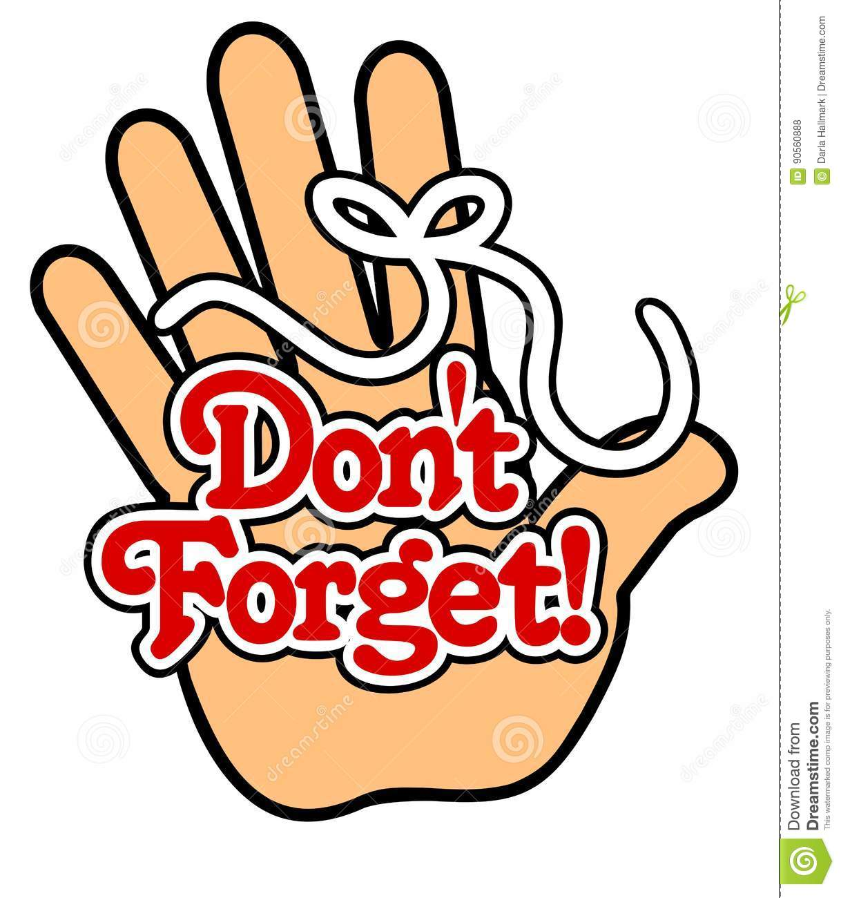 Finger With String Clipart.