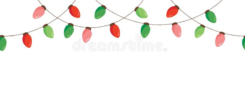 Hanging String Christmas Lights Clipart.