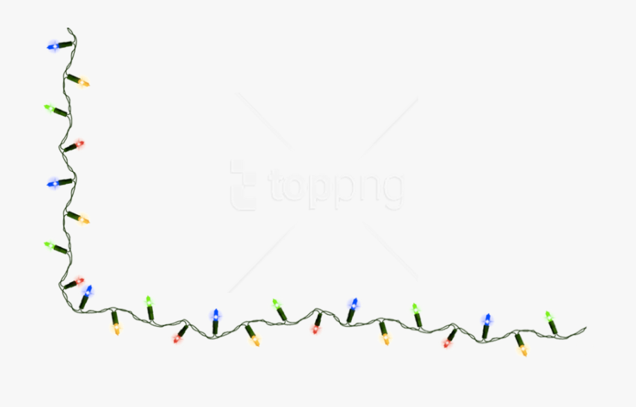 String Of Christmas Lights Clipart , Transparent Cartoon.