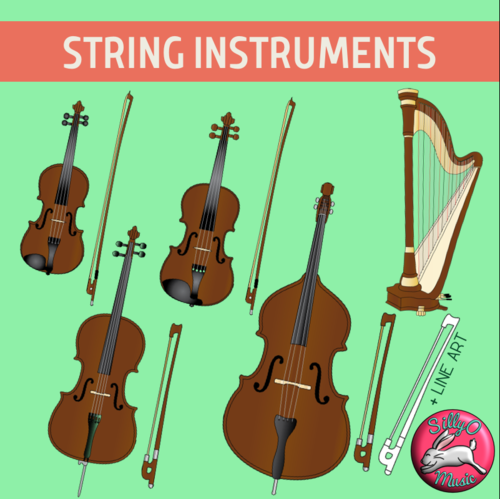 String Musical Instrument Clip Art.