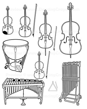 Musical Instruments: Orchestra Instruments Clip Art.