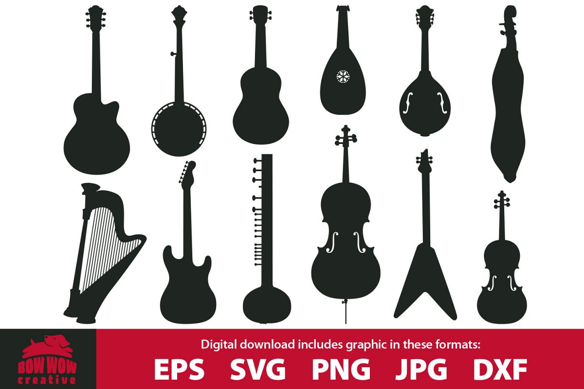 String instruments clipart bundle.
