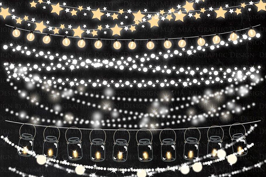 String Lights Clipart.