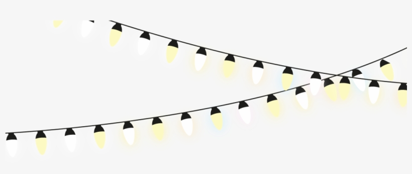 Free White String Lights Png.