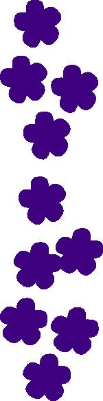 Flower String Purple Clip Art at Clker.com.
