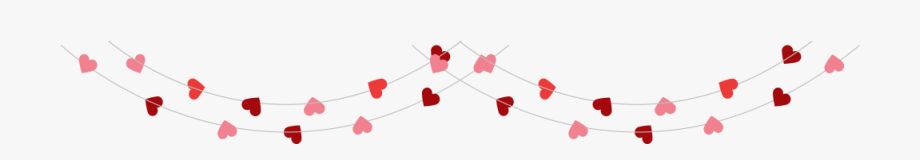 Valentines Day String Of Hearts, Cliparts & Cartoons.