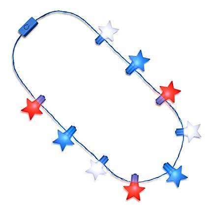 Amazon.com: Jumbo Stars Red White Blue String Lights.