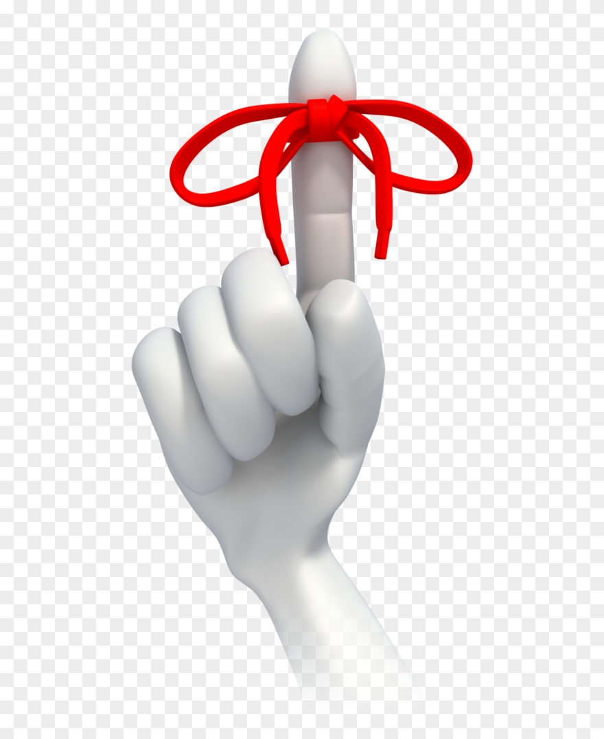 Remember Finger With String Clip Art.
