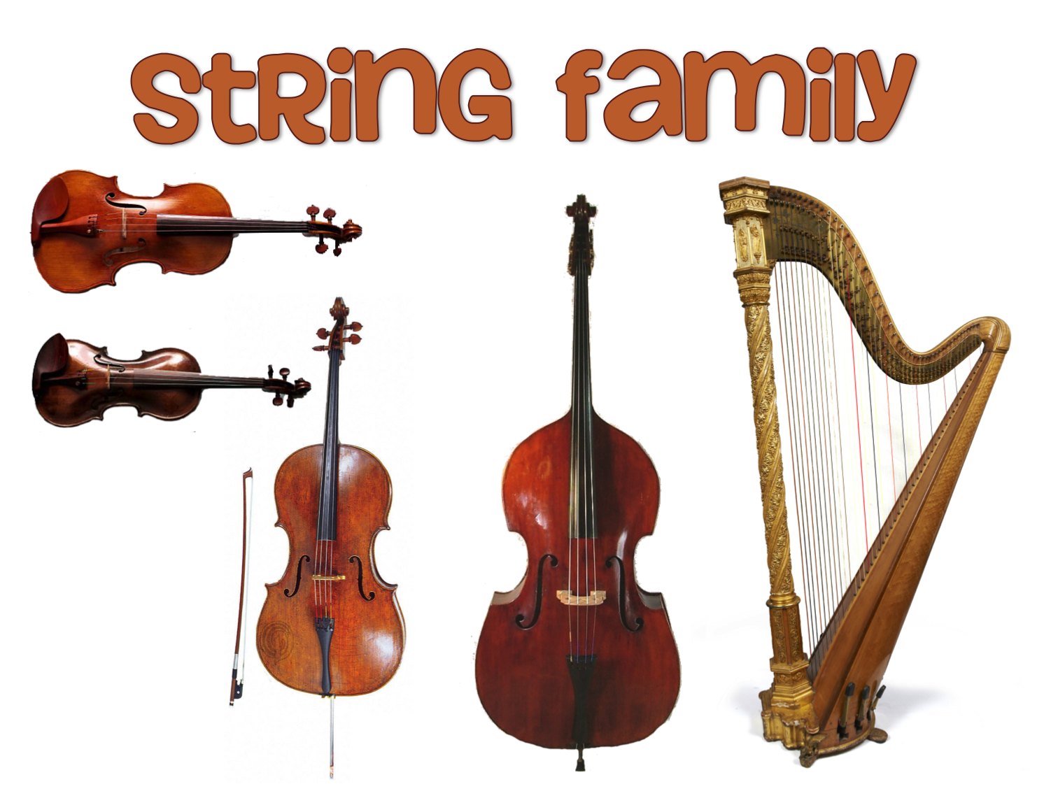 String Orchestra Instrument Clipart.