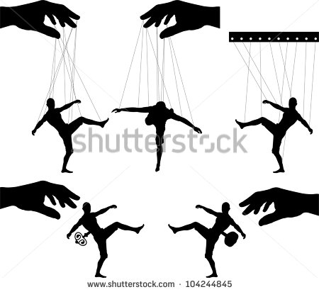 Puppet On A String Stock Images, Royalty.