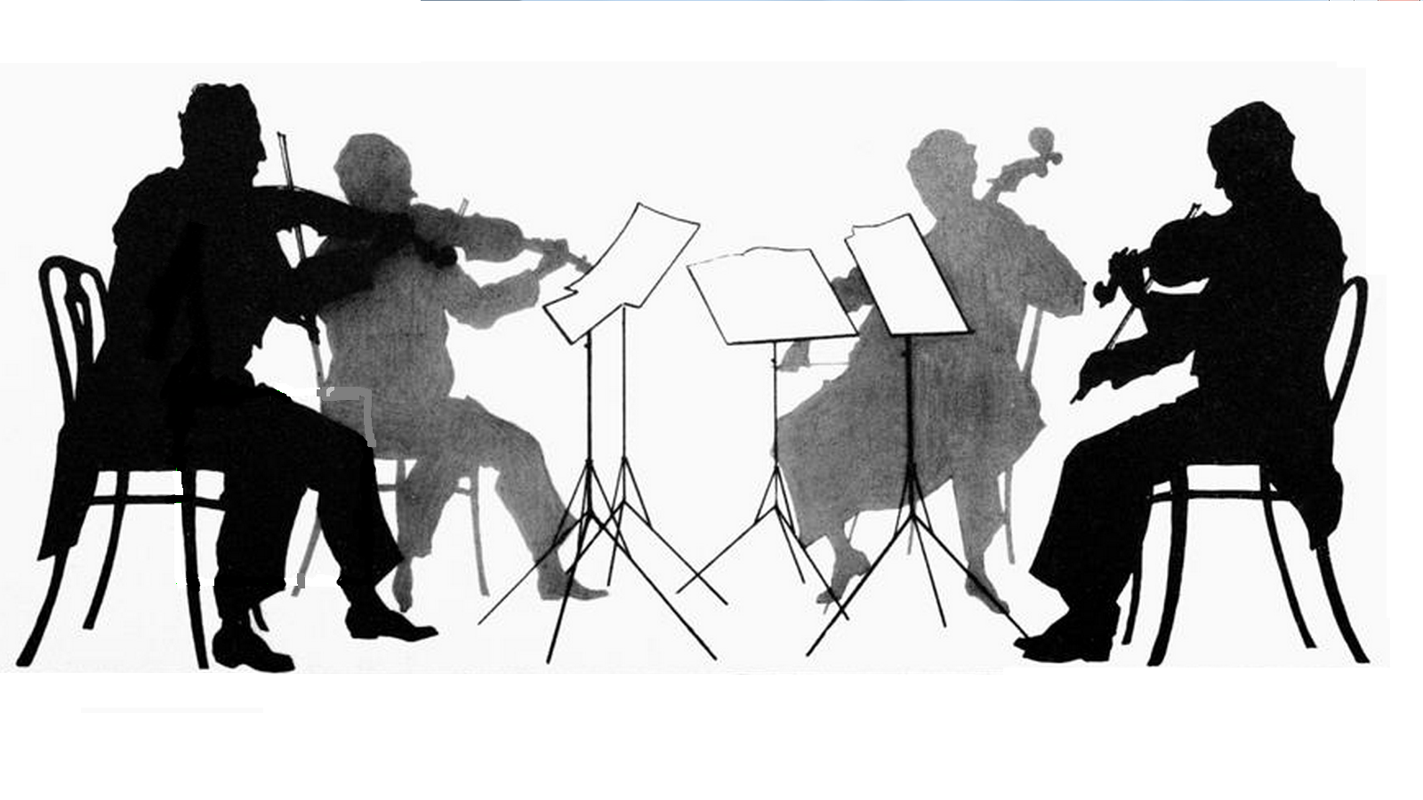 String quartet clipart.
