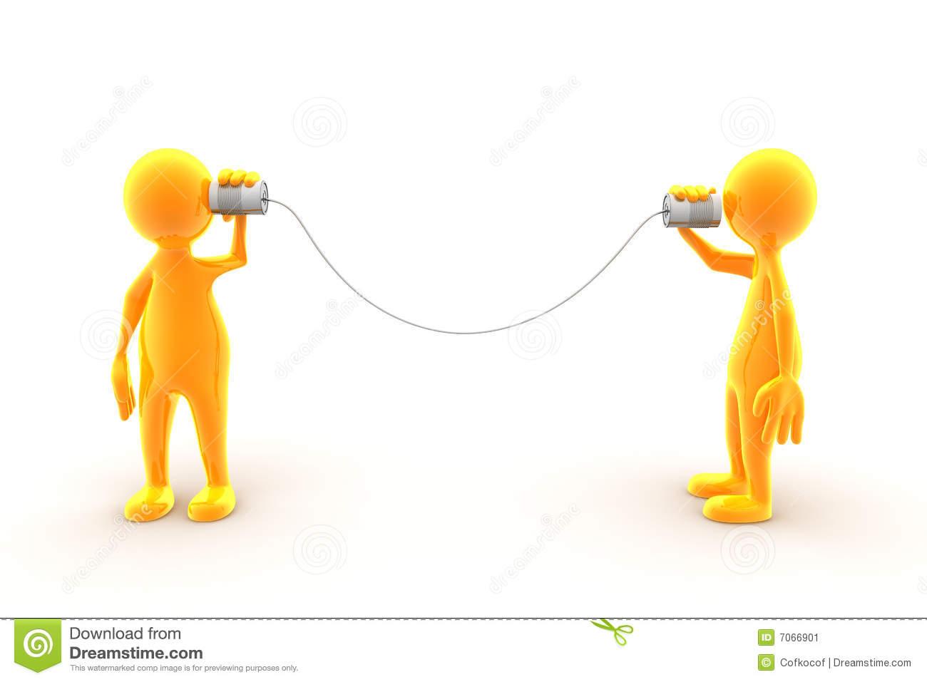 String Telephone Stock Illustrations.
